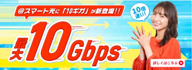 スマート光10Gbps