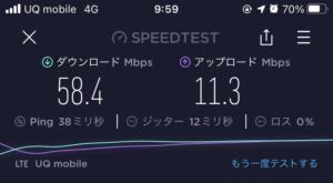 UQスピードテスト-平日10時